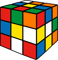 Rubik's cube mix1 vector icon