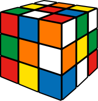 Rubik's cube mix2 vector icon