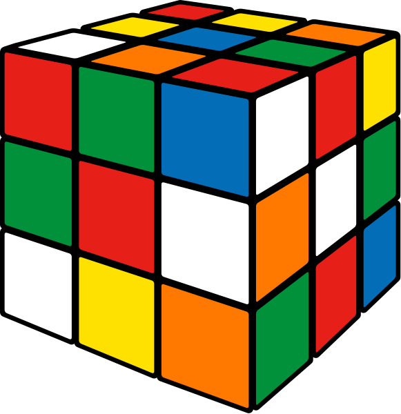 Rubik's cube mix3 vector icon