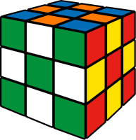 Rubik's cube soccer1 vector icon