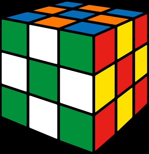 Rubik's cube soccer1 vector icon