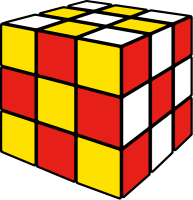 Rubik's cube soccer4 vector icon
