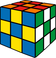 Rubik's cube soccer5 vector icon