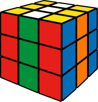 Rubik's cube stripe1 vector icon