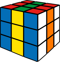 Rubik's cube stripe2 vector icon