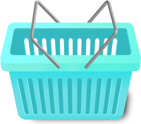SHOPPING CART TURQUOISE BLUE vector icon