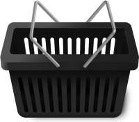 SHOPPING CART BLACK vector icon