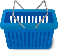 SHOPPING CART BLUE vector icon