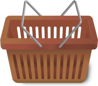 SHOPPING CART BROWN vector icon