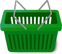 SHOPPING CART DARK GREEN vector icon