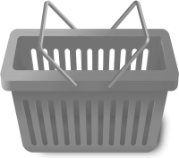 SHOPPING CART GRAY vector icon