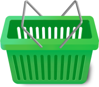 SHOPPING CART GREEN vector icon