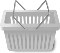 SHOPPING CART LIGHT GRAY vector icon