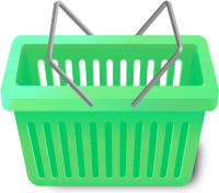 SHOPPING CART LIGHT GREEN vector icon