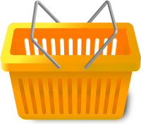 SHOPPING CART LIGHT ORANGE vector icon