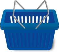 SHOPPING CART NAVY BLUE vector icon