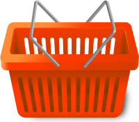 SHOPPING CART ORANGE vector icon