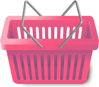 SHOPPING CART PINK vector icon