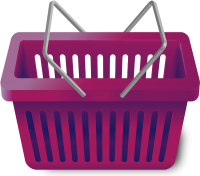 SHOPPING CART PURPLE vector icon