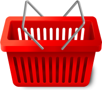 SHOPPING CART RED vector icon