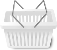 SHOPPING CART WHITE vector icon
