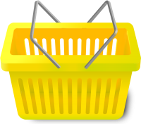 SHOPPING CART YELLOW vector icon