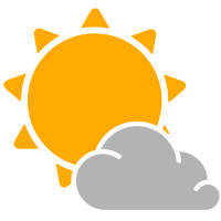 simple weather icons partly cloudy