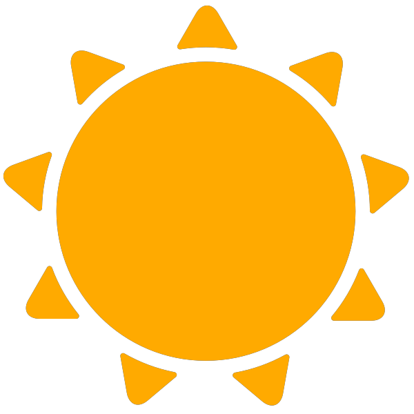 simple weather icons sunny | SVG(VECTOR):Public Domain ...