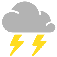 simple weather icons thunderstorms
