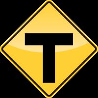 T ROADS Sign