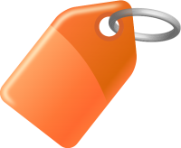 TAG LIGHT ORANGE vector icon
