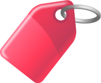 TAG PINK vector icon