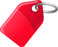 TAG RED vector icon
