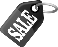 SALE TAG BLACK  vector icon