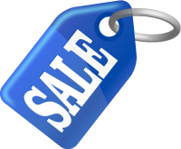 SALE TAG BLUE vector icon