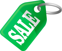 SALE TAG GREEN vector icon