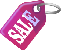 SALE TAG PURPLE vector icon
