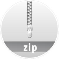 """TAR.GZ"" data compression icon Circle"