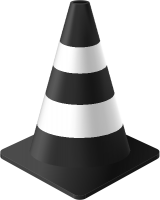 Black Traffic cone vector data for free