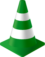 Dark Green Traffic Cone vector data for free