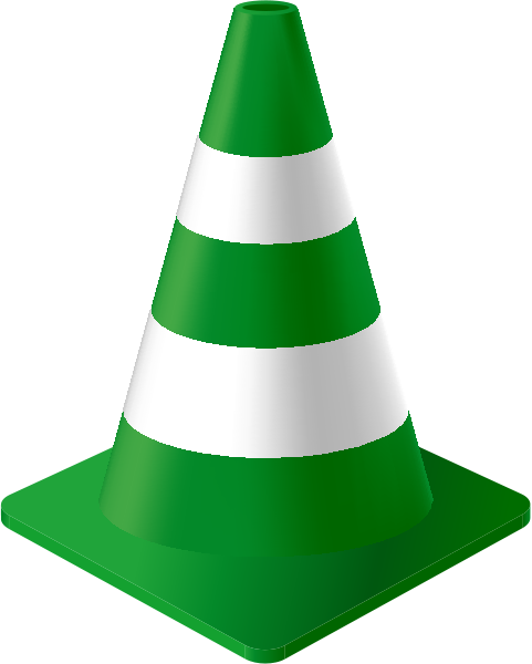 traffic_cone_dark_green