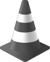 Gray Traffic Cone vector data for free