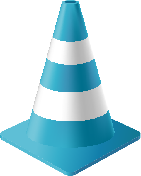 traffic_cone_light_blue