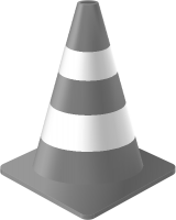 Light Gray Traffic Cone vector data for free