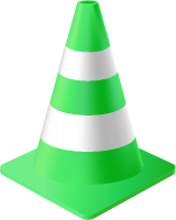 Light Green Traffic Cone vector data for free