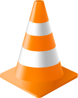 Light Orange Traffic Cone vector data for free