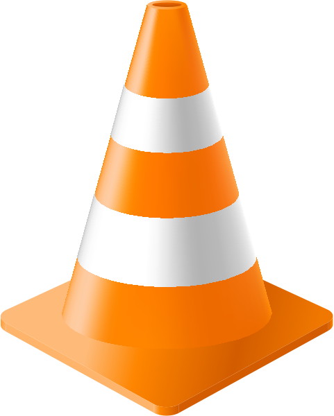 Light Orange Traffic Cone vector - 78.8KB
