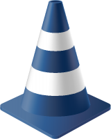 Navy Blue Traffic Cone vector data for free