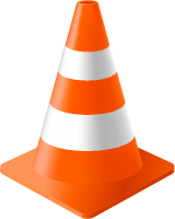 Orange Traffic Cone vector data for free