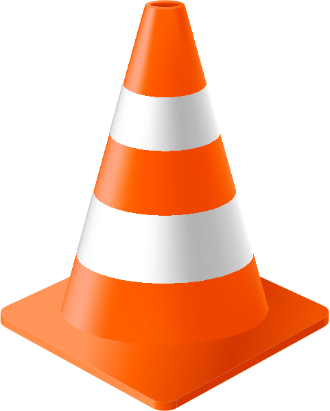 Orange Traffic Cone vector data for free | SVG(VECTOR ...